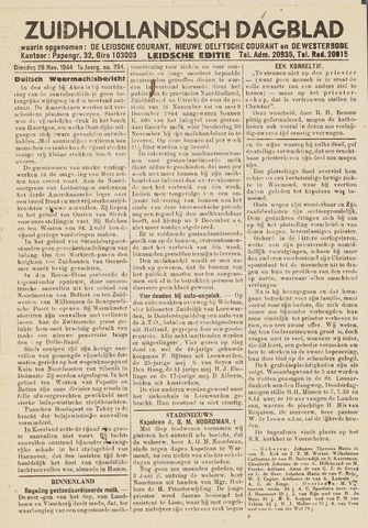 Zuidhollandsch Dagblad 1944-11-28