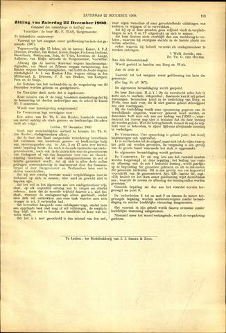 Handelingen van de Raad 1900-12-22