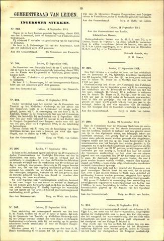 Handelingen van de Raad 1914-09-14