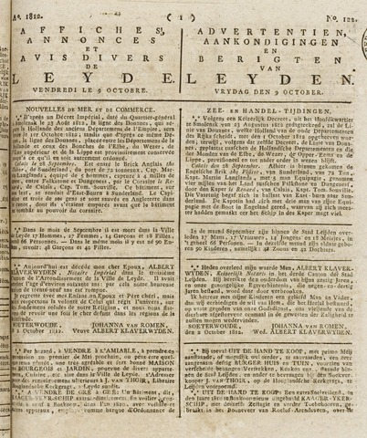 Leydse Courant 1812-10-09
