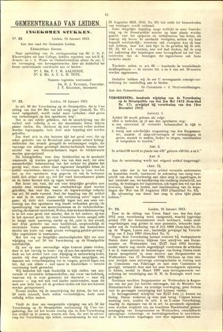 Handelingen van de Raad 1913-01-14