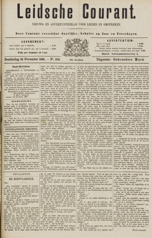 Leydse Courant 1885-11-26