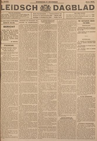 Leidsch Dagblad 1926-11-17