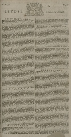 Leydse Courant 1739-02-09