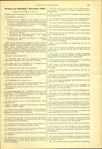 Handelingen van de Raad 1925-12-07