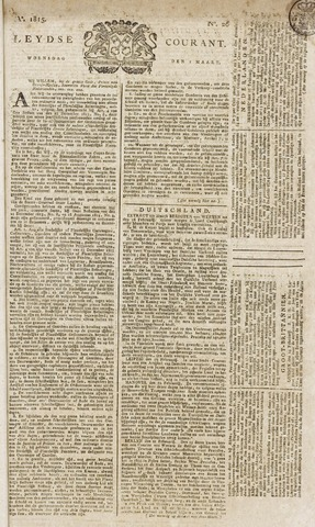 Leydse Courant 1815-03-01