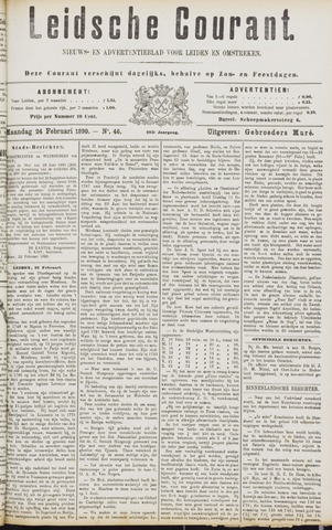 Leydse Courant 1890-02-24