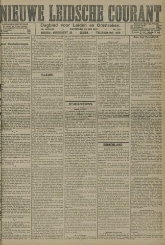 Nieuwe Leidsche Courant 1921-05-28
