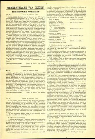 Handelingen van de Raad 1936-02-06