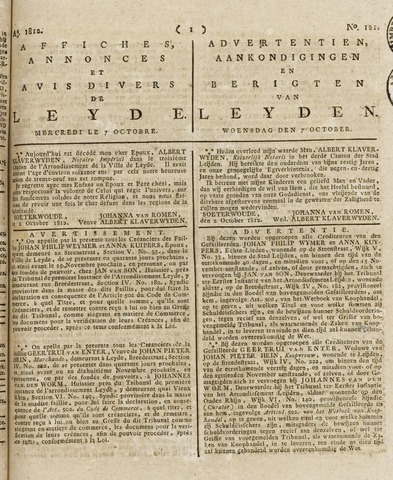 Leydse Courant 1812-10-07