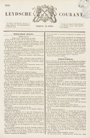 Leydse Courant 1852-04-30