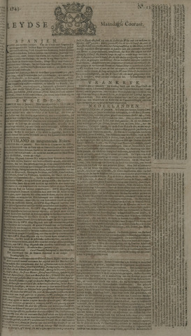 Leydse Courant 1743-01-28