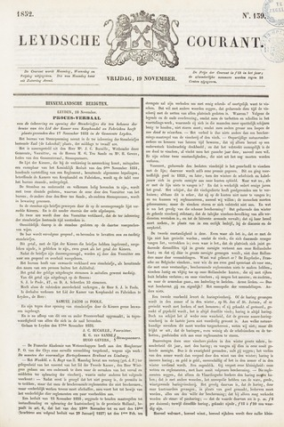 Leydse Courant 1852-11-19