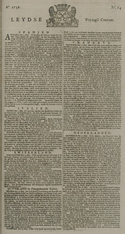 Leydse Courant 1739-05-29