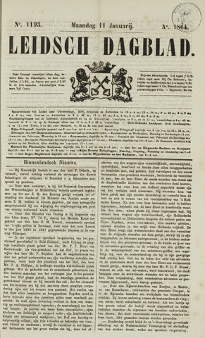 Leidsch Dagblad 1864-01-11