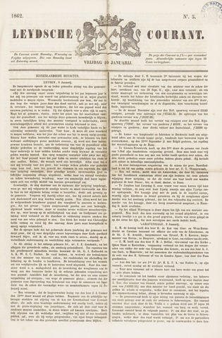 Leydse Courant 1862-01-10