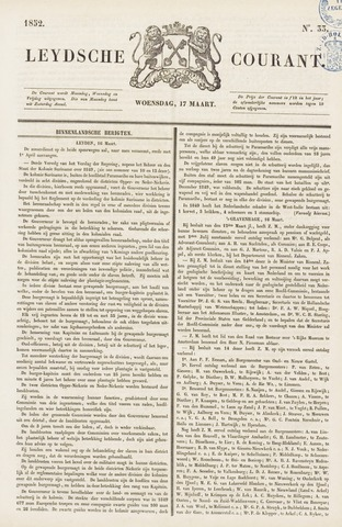 Leydse Courant 1852-03-17