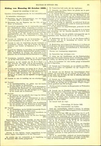 Handelingen van de Raad 1925-10-26