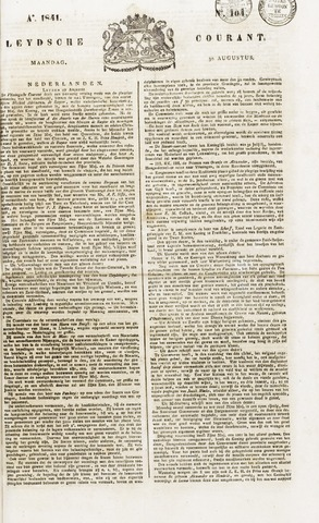 Leydse Courant 1841-08-30