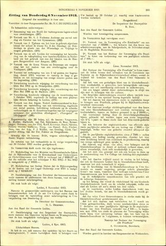 Handelingen van de Raad 1913-11-06