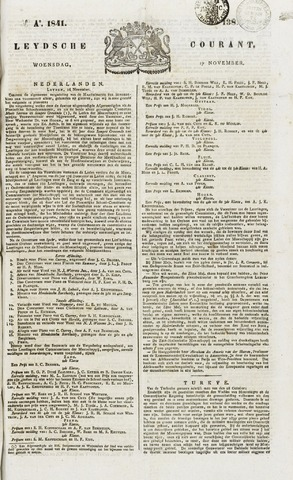 Leydse Courant 1841-11-17