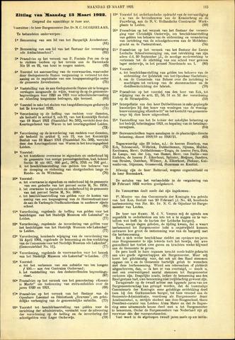 Handelingen van de Raad 1922-03-13