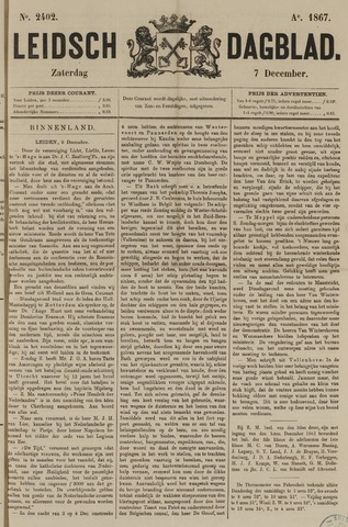 Leidsch Dagblad 1867-12-07