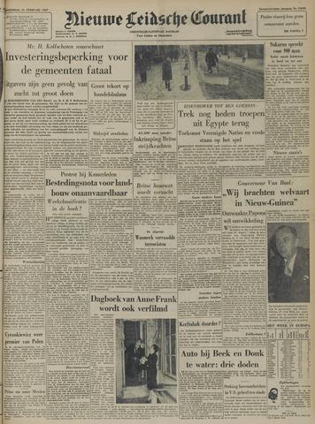 Nieuwe Leidsche Courant 1957-02-21
