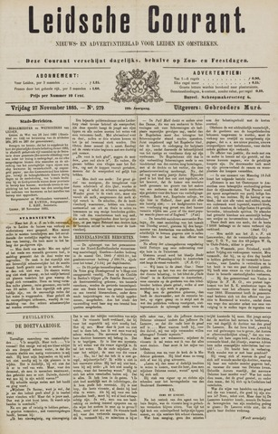Leydse Courant 1885-11-27