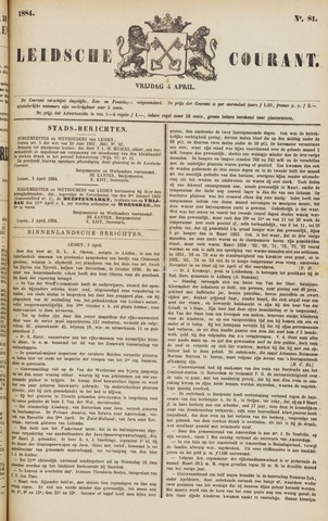 Leydse Courant 1884-04-04