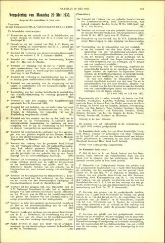 Handelingen van de Raad 1933-05-29