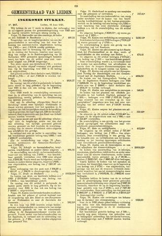 Handelingen van de Raad 1921-06-16
