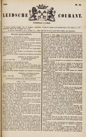 Leydse Courant 1884-04-02