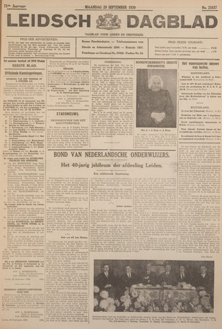 Leidsch Dagblad 1930-09-29