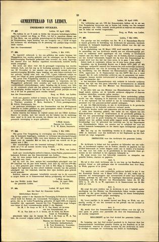 Handelingen van de Raad 1885-04-22