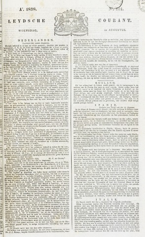 Leydse Courant 1838-08-22
