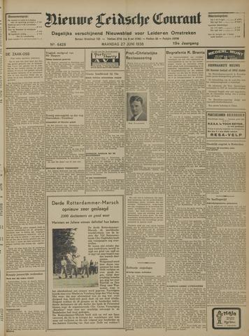 Nieuwe Leidsche Courant 1938-06-27