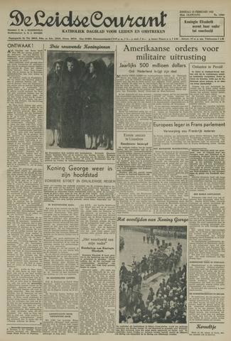 Leidse Courant 1952-02-12