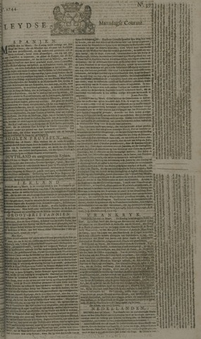 Leydse Courant 1744-03-30