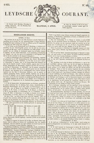 Leydse Courant 1855-04-02