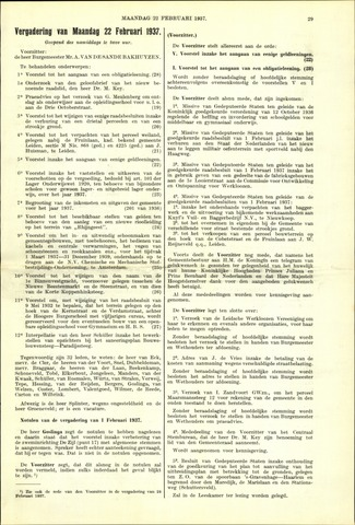 Handelingen van de Raad 1937-02-22