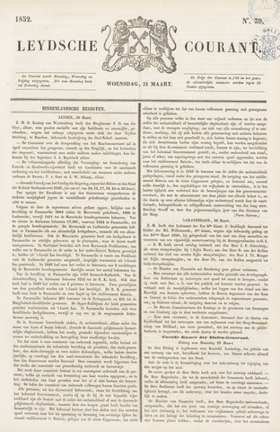 Leydse Courant 1852-03-31