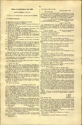 Handelingen van de Raad 1885-04-09