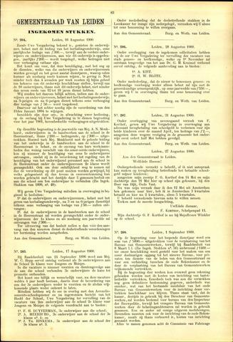Handelingen van de Raad 1900-08-16