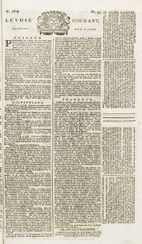 Leydse Courant 1819-06-28