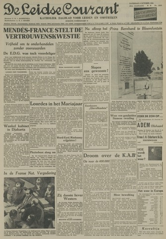 Leidse Courant 1954-10-09
