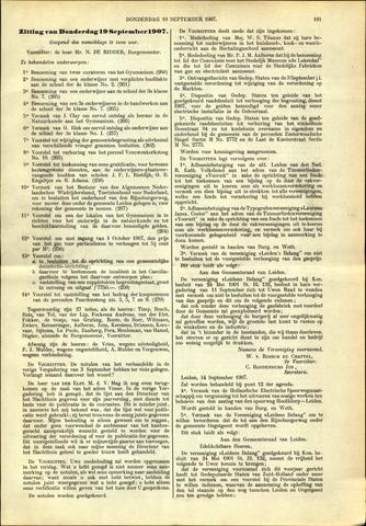 Handelingen van de Raad 1907-09-19