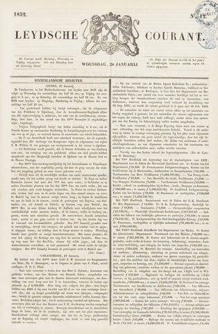 Leydse Courant 1852-01-28
