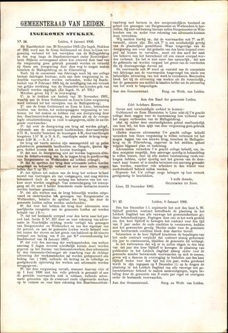 Handelingen van de Raad 1906-01-08