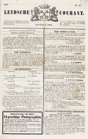 Leydse Courant 1869-04-05